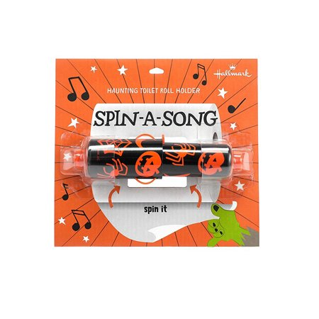 Halloween Songs For Kindergarten (Hallmark Spin-a-Song Halloween Holiday Novelty Musical Toilet Roll)