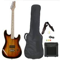 Davison Guitars Electric Guitar Vintage Sunburst Full Size With Amp Case Cord Strap And Picks