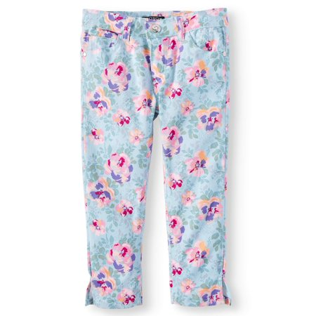 XOXO Floral Print Twill Crop Pant (Little Girls & Big Girls)