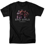Trevco Injustice Gods Among Us-Bad Girls Short Sleeve Adult 18-1 Tee, Charcoal - 2X