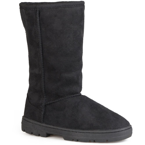 Brinley Co. - Women's Faux Suede Lug Sole Boots