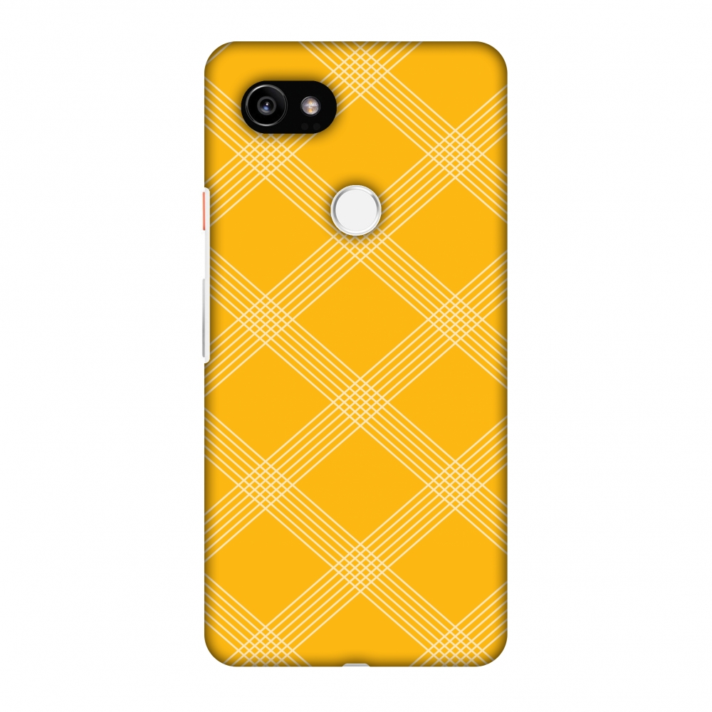 Google Pixel 2 XL Case, Premium Handcrafted Designer Hard Shell Snap On Case Printed Back Cover with Screen Cleaning Kit for Google Pixel 2 XL, Slim, Protective - Carbon Fibre Redux Cyber Yellow 5