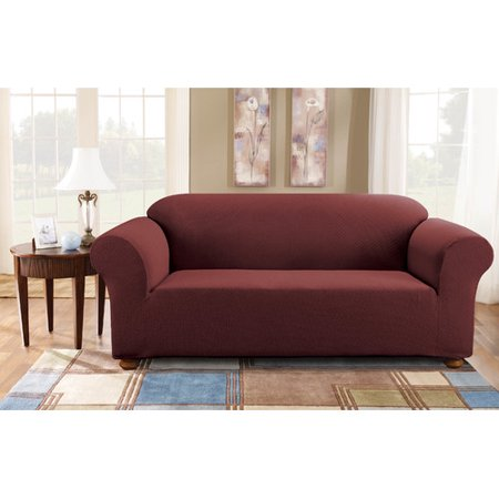 Incredible Sure Fit Simple Stretch Subway One Piece Sofa Slipcover Onthecornerstone Fun Painted Chair Ideas Images Onthecornerstoneorg