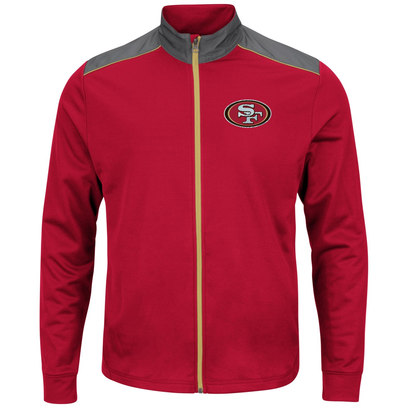 "San Francisco 49ers Majestic NFL ""Team Tech"" Men's Full Zip Jacket Sweatshirt by Majestic"