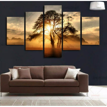 On Clearance My. Way 1/2/3/5 Pcs Frameless Canvas Prints Pictures, Morden Abstract Paintings, Canvas Wall Art, Home Decor
