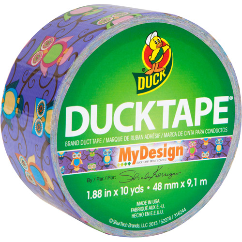 "Duck Brand Duct Tape, 1.88"" x 10 yard, Retro Owls"