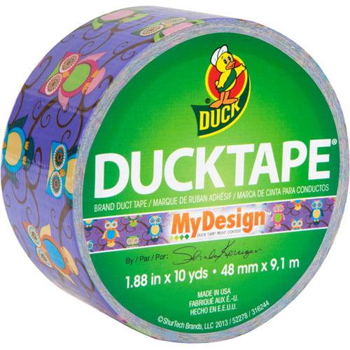 "Duck Brand Duct Tape, 1.88"" x 10 yard, Retro Owls"