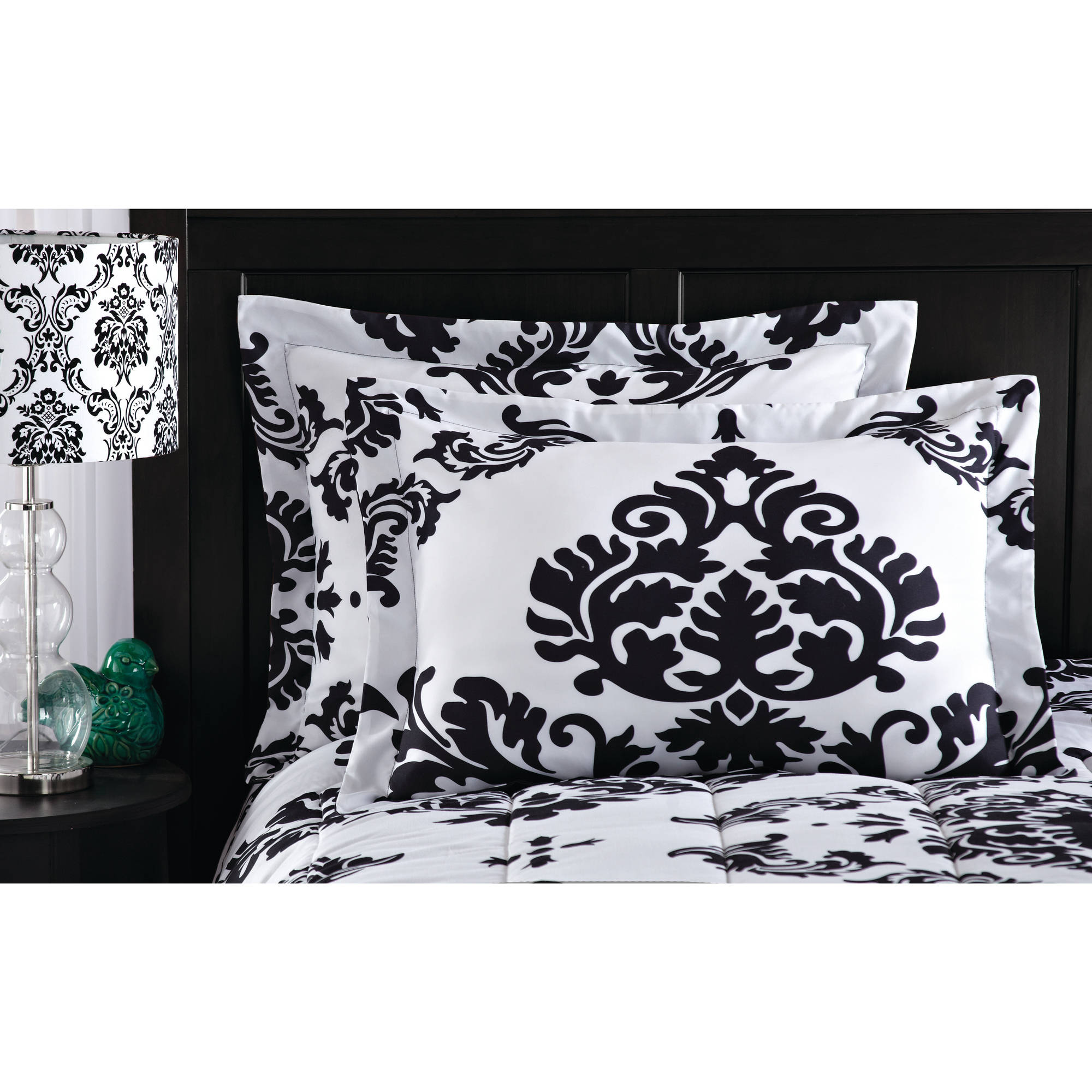 mainstays classic noir bed in a bag bedding set - walmart