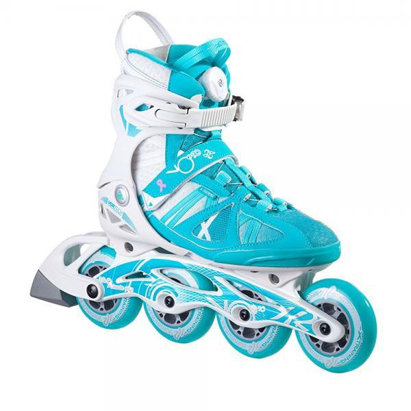 K2 Skate Women's Vo2 90 Boa Inline Skates, Turquoise/Whit...