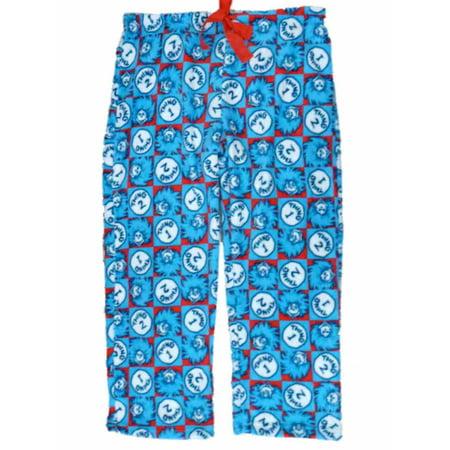 Dr Seuss - Dr Seuss Womens Blue Thing 1   Thing 2 Plush Lounge Sleep Pants  Pajama Bottom 2X - Walmart.com cafc0fd74
