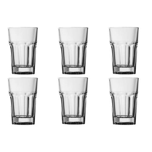 6 Cardinal Pasabahce Casablanca Paneled Beverage Glasses Set Lot 7.5oz 218416 by