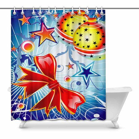 POP Christmas Fantasy Bubbles and Star Water, Soap, Shower Curtain 60x72 inch - image 1 of 1