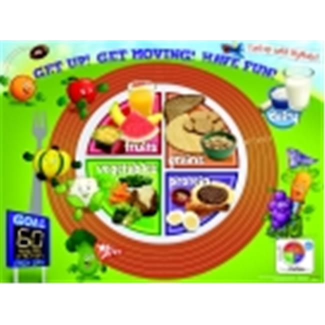 Learning Zonexpress Active Kids Myplate Laminated Poster, 24 x 18 inch