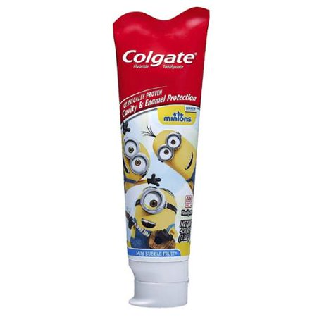 Colgate Enfants Minions Dentifrice, Fruit Bubble doux 4,60 oz (Lot de 4)