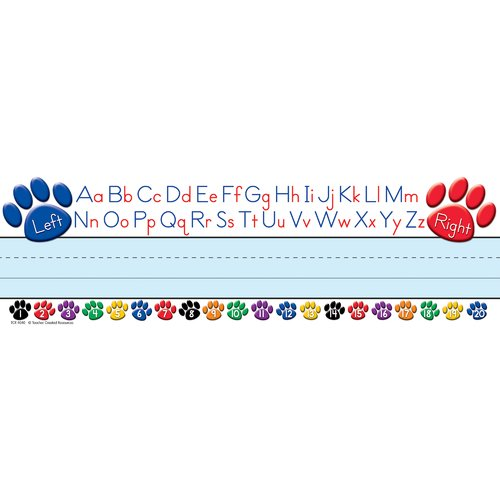 Teacher Created Resources Paw Prints Left/right Alphabet Name Tag