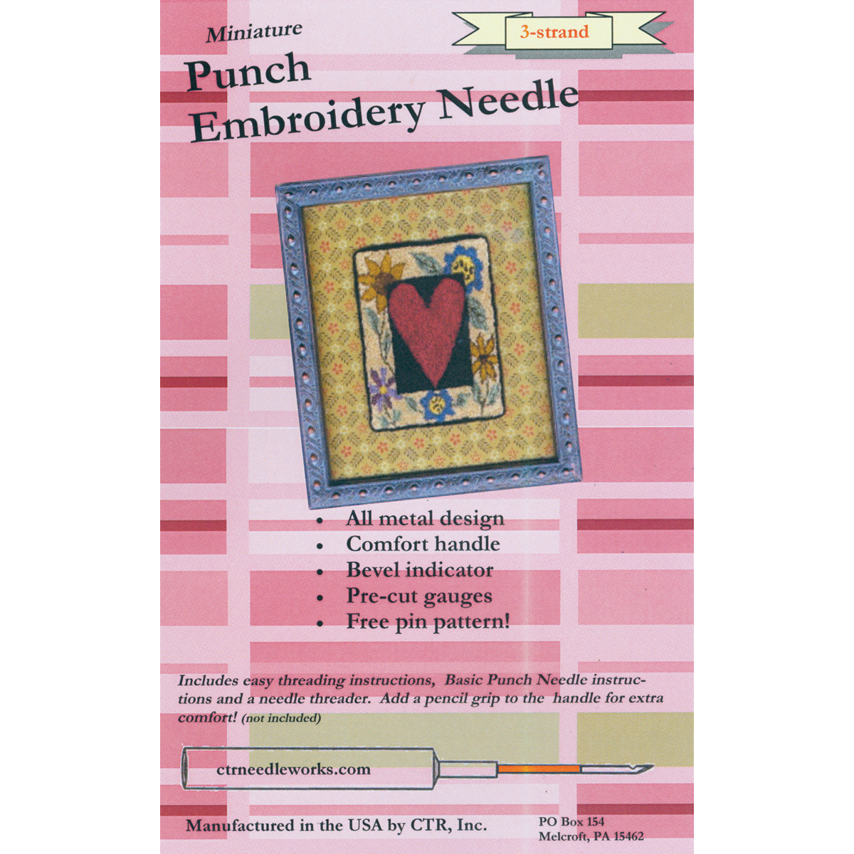 CTR Miniature Punch Embroidery Needle