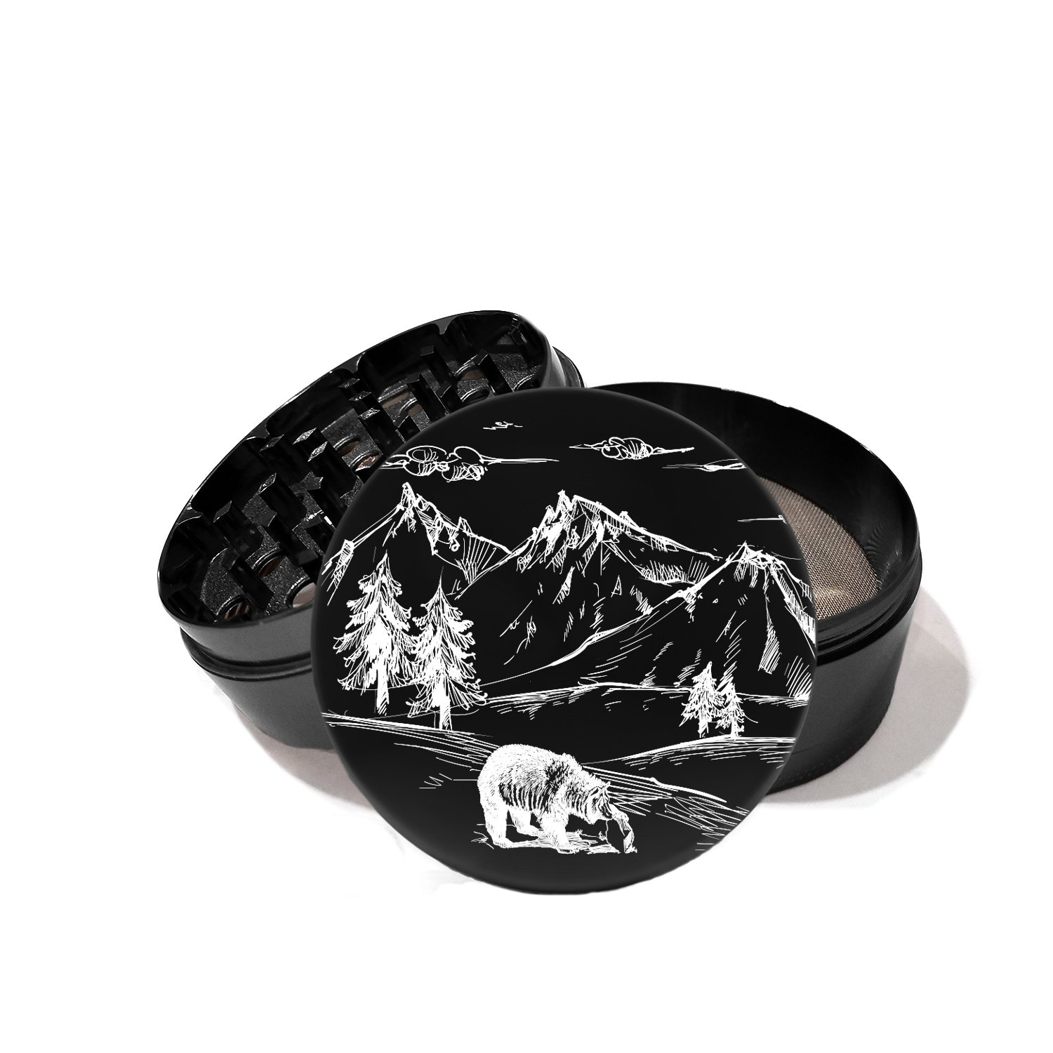 Mountains Wilderness California Bear - Laser Etched Grinder