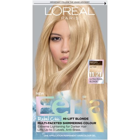 L'Oreal Paris Feria Multi-Faceted Shimmering Permanent Hair Color, 11.21 Bad to the Blonde (Ultra Pearl Blonde), 1