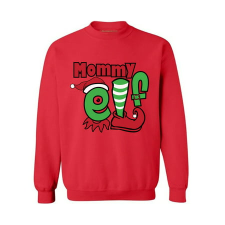 Awkward Styles Mommy Elf Sweashirt Christmas Elf Sweater Ugly Christmas Sweater Women Matching Family Christmas Pajamas Elf Suit for Mom Funny Christmas Gifts for Mom Tacky Christmas Ugly Sweater