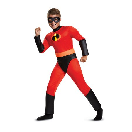 Red Jumpsuit Halloween Costume (The Incredibles Dash Classic Muscle Child Halloween)