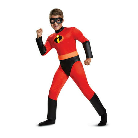 The Incredibles Dash Classic Muscle Child Halloween Costume - Light Up Childrens Halloween Costumes