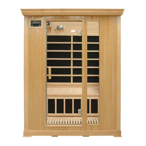 Crystal Sauna Family Series 3 Person Carbon FAR Infrared Sauna by Crystal Sauna