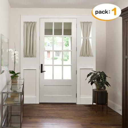 H Versailtex Linen Sheer Curtains Rod Pocket Open Weave Panel For French Door