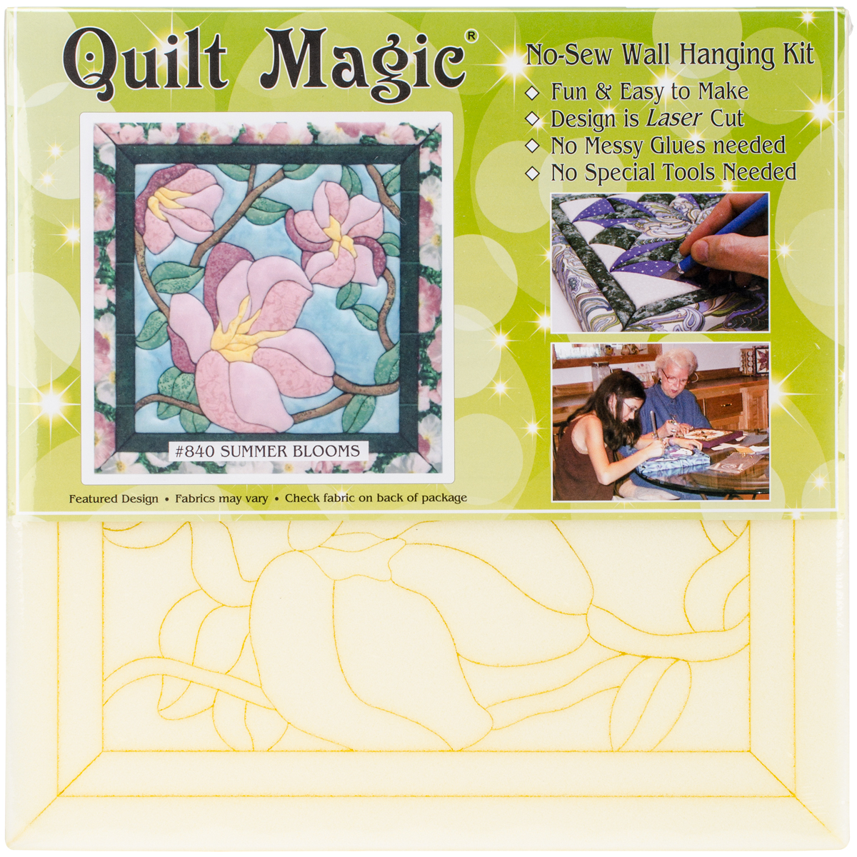 Summer Blooms Quilt Magic Kit-12 Inch X 12 Inch