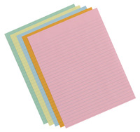 School Smart Colored Lined Paper for Kids, 8-1/2 x 11 Inches, 500 Sheets