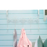 Clothes Hanging Rack Hooks Hat Clothes Coat Towel Bag Over Door Bathroom 5/7 Hooks Hanger Hanging Rack Holder