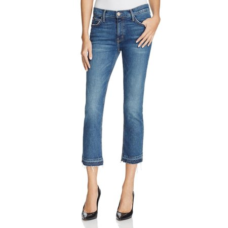 Current/Elliott Womens Denim Relaxed Cropped Jeans