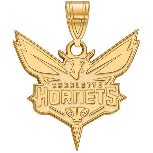 LogoArt NBA Charlotte Hornets 14kt Gold-Plated Sterling Silver Large Pendant