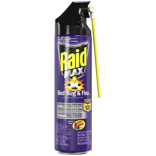 Raid Max Bed Bug & Flea Killer, 17.5oz