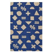 "The Rug Market Math Dot Navy 2.8"" x 4.8"" Area Rug"