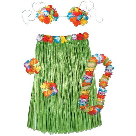 Adult Hula Set Costume - Size Up to 36