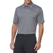 Men's Short Sleeve Performance Heather Piped Polo Shirt