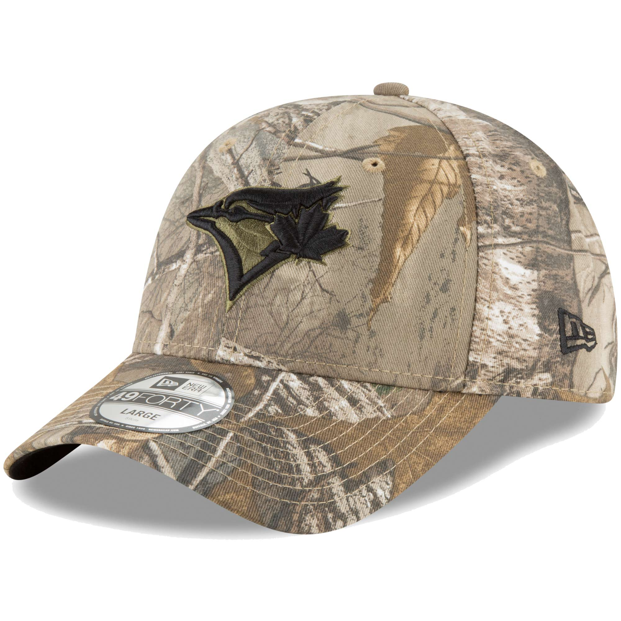 Toronto Blue Jays New Era Realtree 49FORTY Fitted Hat - Camo