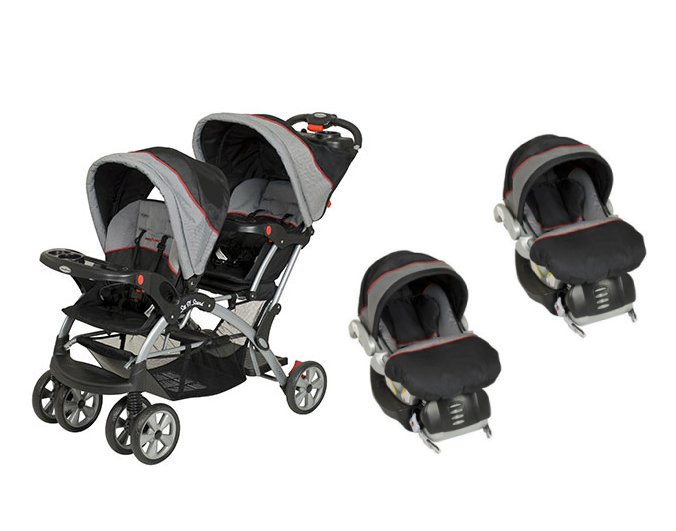 BABY TREND Sit N Stand Double Travel System (2 Car Seats Included) Millennium by Baby Trend