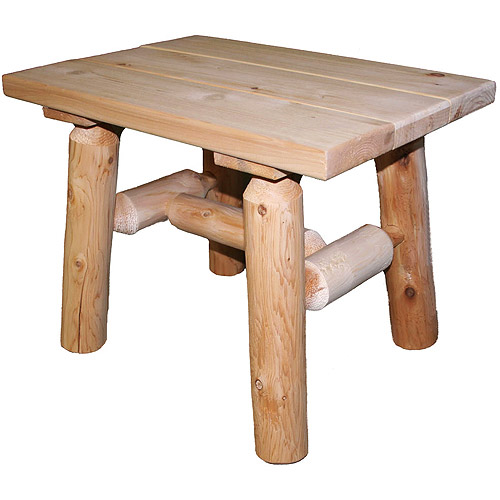 Cedar Log End Table by Lakeland Mills