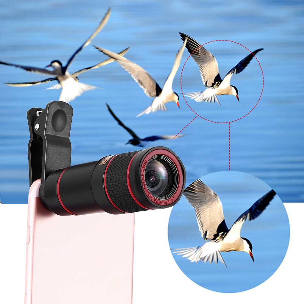 Tuscom HD 14x Optical Zoom Camera Telescope Lens With Clip For iPhone/Phone Universal