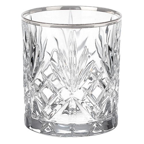 Lorren Home Trends Reagan Crystal 9 Oz. Double Old Fashion Glass (Set of 6)