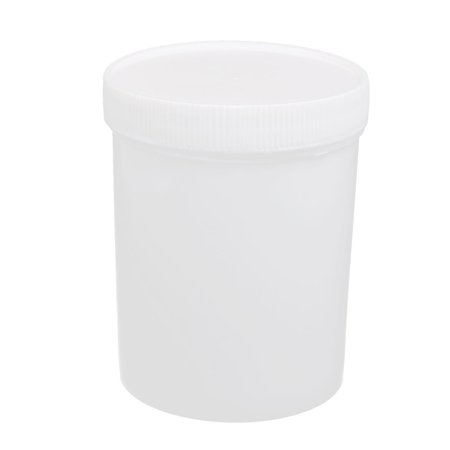 Mouth Environmental Sample Bottle - Unique Bargains 500ml PP Plastic Round Mouth Sample Bottle White 90mmx115mm