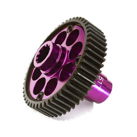 Integy RC Toy Model Hop-ups C27983PURPLE Alloy Machined Metal Transmission Output Gear 51T for Traxxas X-Maxx 4X4