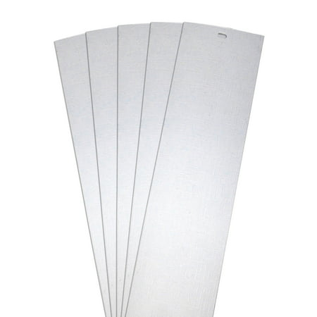 Civic Vertical Doors - DALIX Lino Vertical Blinds Replacement Slats White 82.5