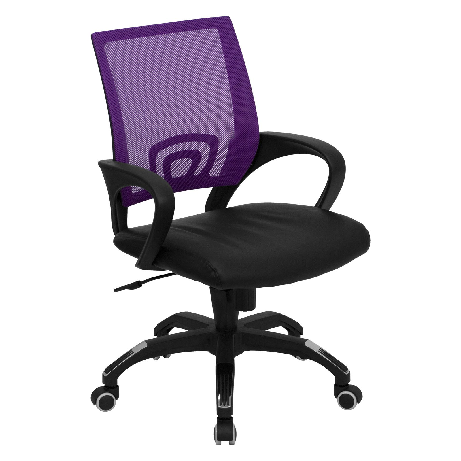 Flash Furniture Mid-Back Computer Chair with Black Leather Seat