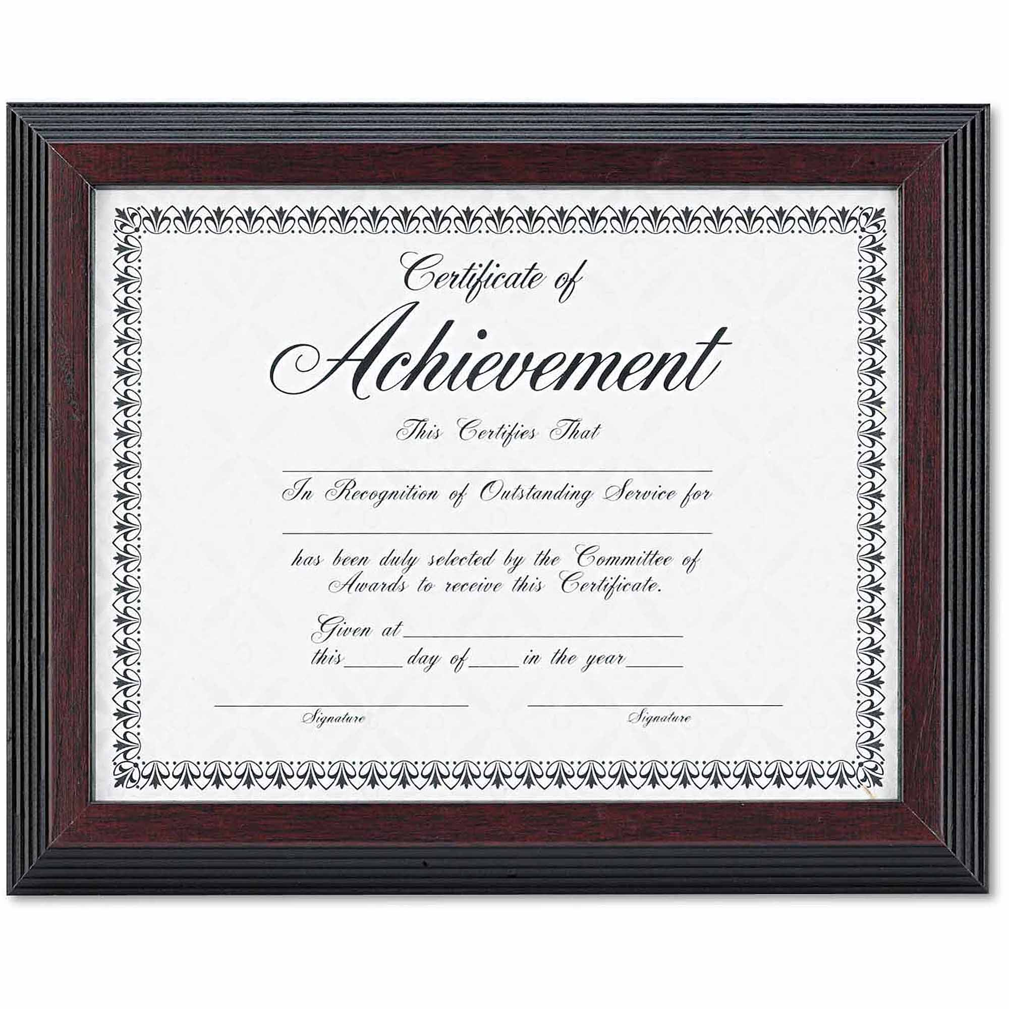 "DAX Solid Wood Award/Certificate Frame, 8-1/2"" x 11"", Black with Walnut Trim"