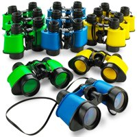"12 Toy Binoculars With Neck String 3.5"" x 5"" - Novelty Binoculars For Children, Sightseeing, Birdwatching, Wildlife, Outdoors, Scenery, Indoors, Pretend, Play, Props, And Gifts – By Kidsco"