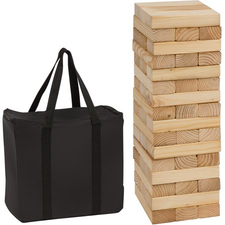 48 Piece 1.5'Tall Giant Wooden Stacking Puzzle Game with Carry Case by Trademark Innovations](Christmas Puzzle Games)