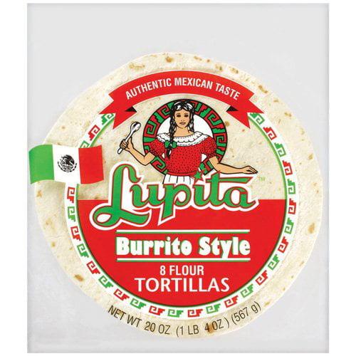 Lupita Burrito Style Tortillas Flour, 8ct