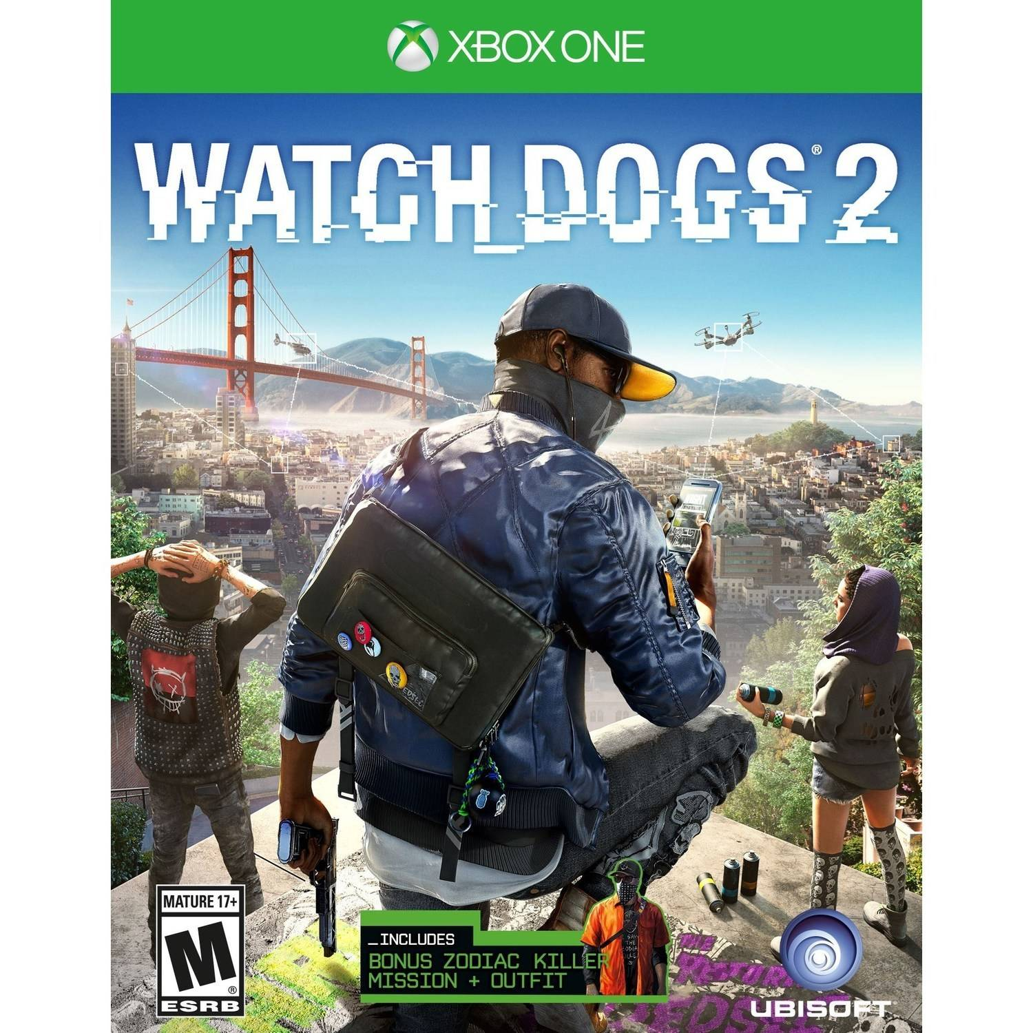 Watch Dogs 2 (Xbox One) Ubisoft, 887256022785 by Ubisoft